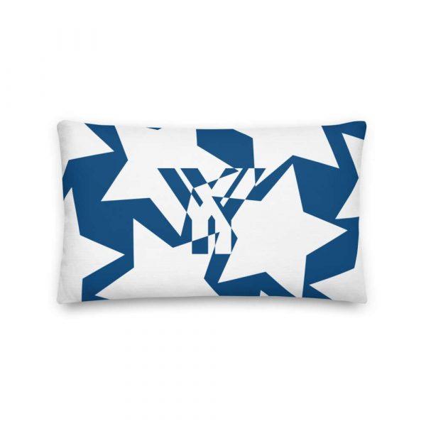 Sofakissen Sterne weiß auf blau Premiumqualität 3 mockup c6ccd3ee