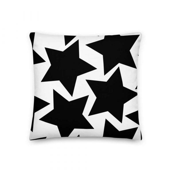 Sofakissen Sterne schwarz auf weiß 2 mockup cbb3bfeb