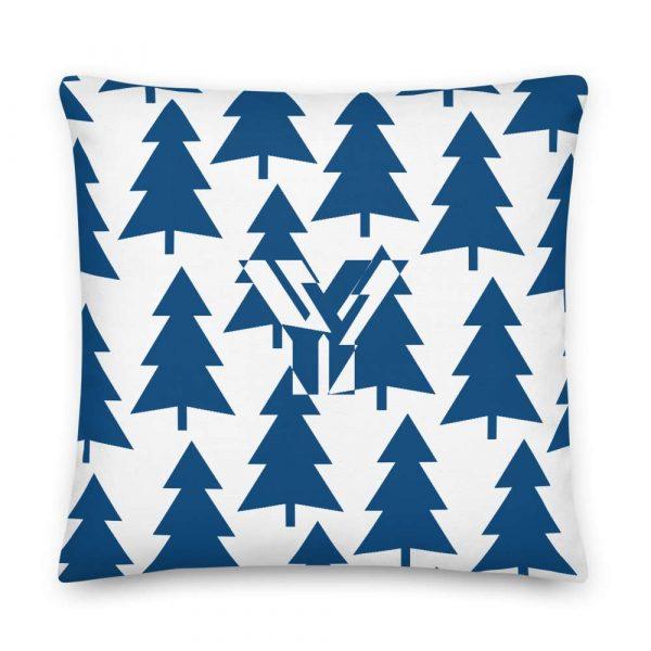 Premium Kissen Tannenbaum blau auf weiß 5 mockup d4402105