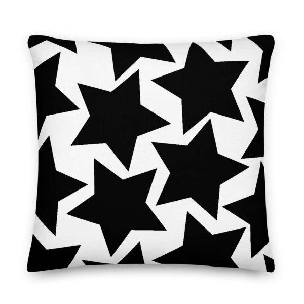 Sofakissen Sterne schwarz auf weiß 6 mockup d5945ab4