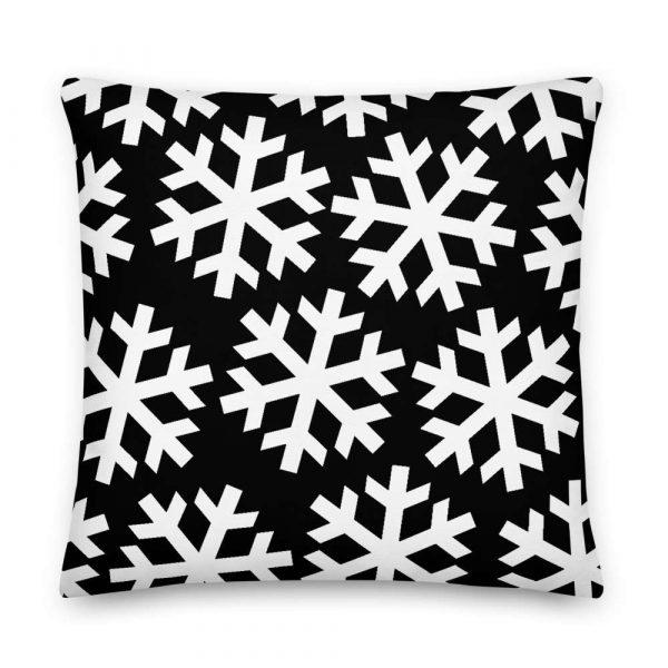 Sofakissen Schneeflocke weiß auf schwarz 6 mockup d8f987db