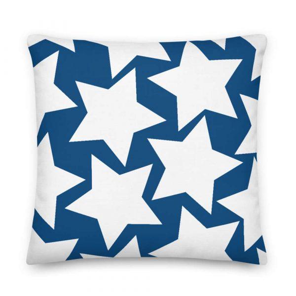 Sofakissen Sterne weiß auf blau Premiumqualität 6 mockup df537a0f
