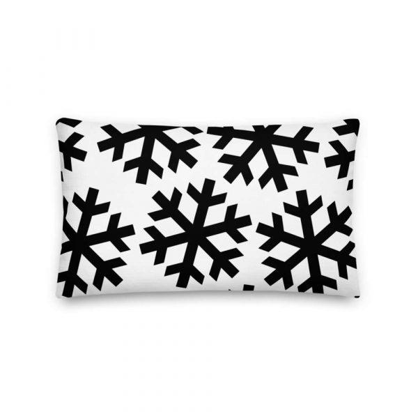 Sofakissen Schneeflocke schwarz auf weiß 4 mockup e803efd5