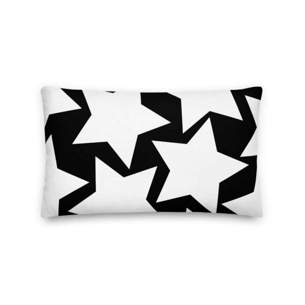 Sofakissen Sterne weiß auf schwarz 4 mockup f3ab1090