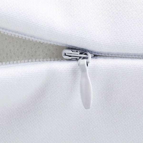 Sofakissen Sterne blau auf weiß 8 throw pillow hidden zipper 001