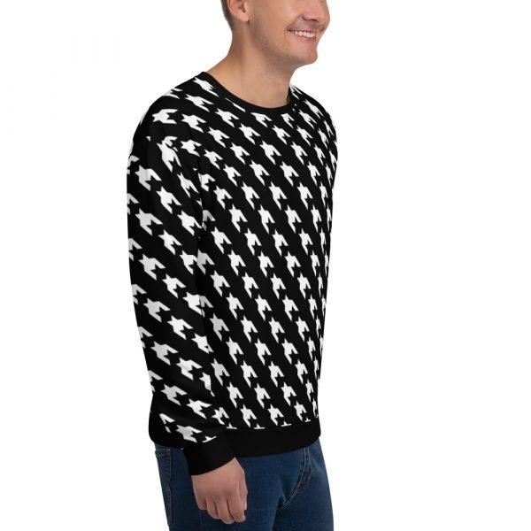 men sweatshirt black white houndstooth 16