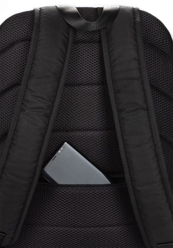 Rucksack Schrägstreifen schwarz rot mit Laptopfach 5 rucksack backpack laptopfach pocket for laptop stripes black red 01