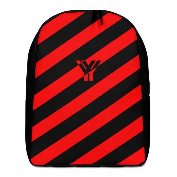 Rucksack Schrägstreifen schwarz rot mit Laptopfach 1 rucksack backpack laptopfach pocket for laptop stripes black red 02