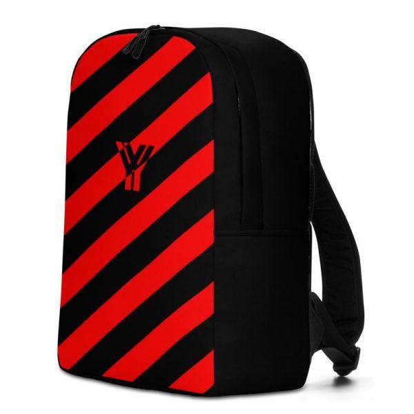 Rucksack Schrägstreifen schwarz rot mit Laptopfach 2 rucksack backpack laptopfach pocket for laptop stripes black red 03
