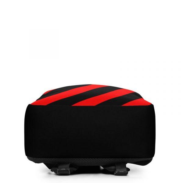 Rucksack Schrägstreifen schwarz rot mit Laptopfach 4 rucksack backpack laptopfach pocket for laptop stripes black red 08