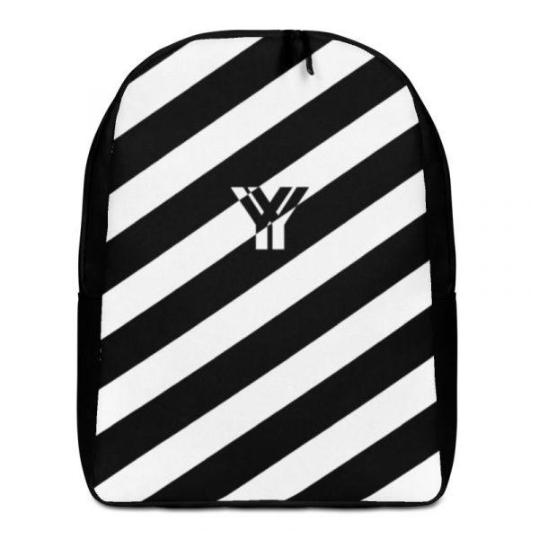 Rucksack Schrägstreifen schwarz weiß mit Laptopfach 1 rucksack backpack laptopfach pocket for laptop stripes black white 02