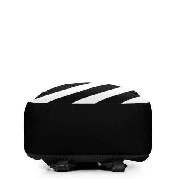 Rucksack Schrägstreifen schwarz weiß mit Laptopfach 4 rucksack backpack laptopfach pocket for laptop stripes black white 08
