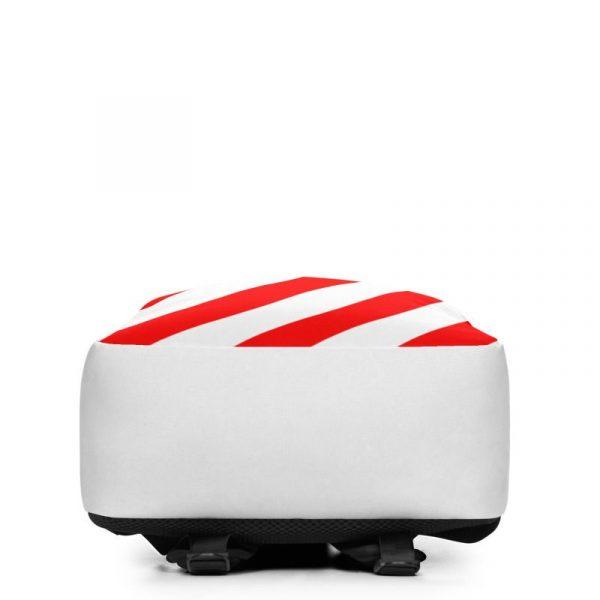 Rucksack Schrägstreifen rot weiß mit Laptopfach 4 rucksack backpack laptopfach pocket for laptop stripes white red 02