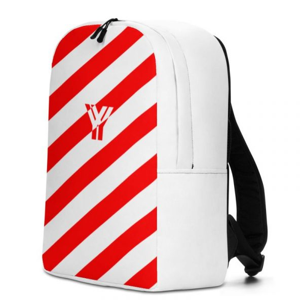 Rucksack Schrägstreifen rot weiß mit Laptopfach 2 rucksack backpack laptopfach pocket for laptop stripes white red 07