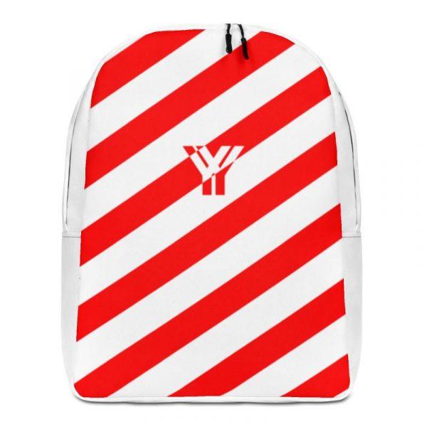 Rucksack Schrägstreifen rot weiß mit Laptopfach 1 rucksack backpack laptopfach pocket for laptop stripes white red 08
