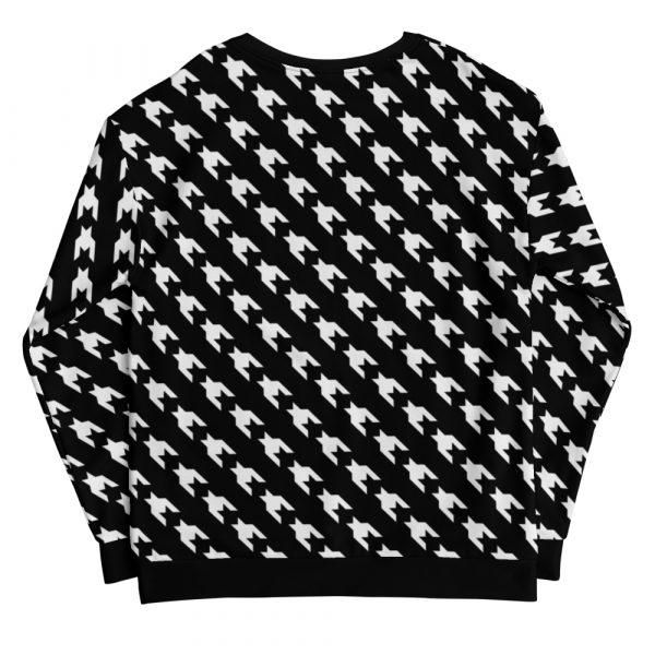 sweatshirt black white houndstooth 05