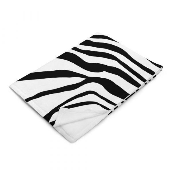 Animal Print Designer Sofadecke Zebra 10 throw blanket 50x60 left front 617034564b793