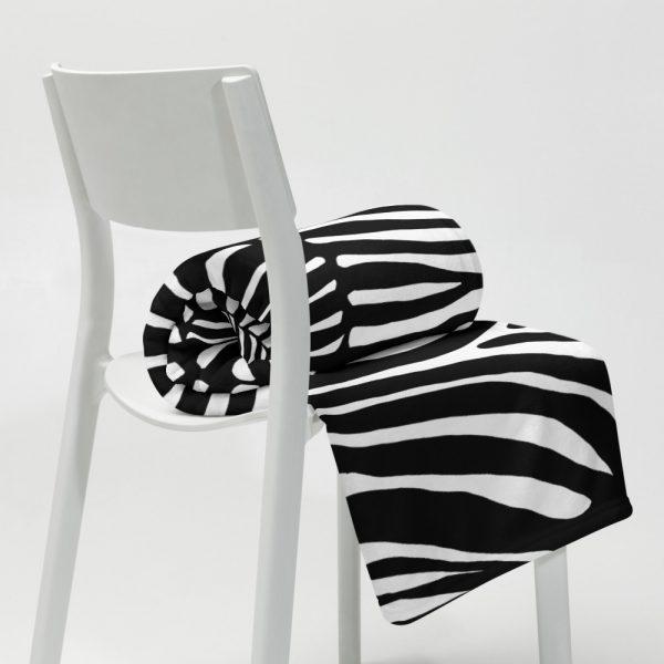 Animal Print Designer Sofadecke Zebra 2 throw blanket 50x60 lifestyle 2 617034564b89f