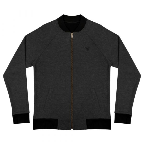 sweatjacket heather black front flat antony yorck