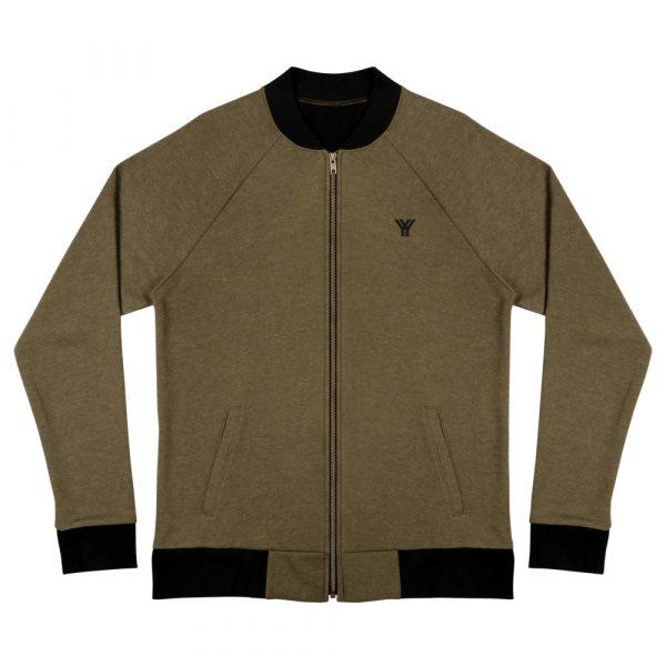 sweatjacket heather military green front flat antony yorck