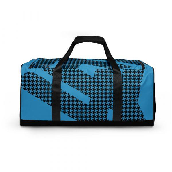 sporttasche trainingstasche houndstooth logo blue front