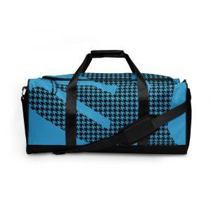 sporttasche trainingstasche houndstooth logo blue front view