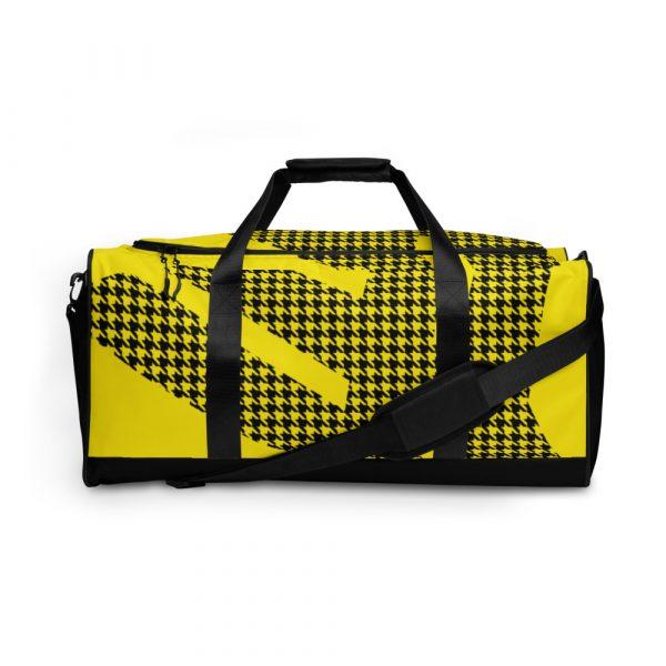 sporttasche trainingstasche houndstooth logo yellow front view