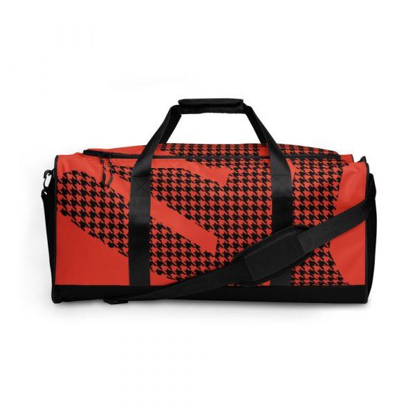 sporttasche trainingstasche houndstooth logo red front