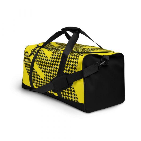 sporttasche trainingstasche houndstooth logo yellow front right view
