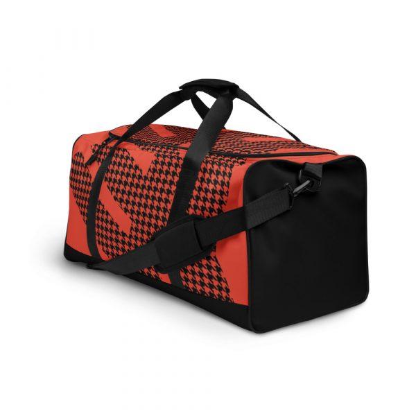 sporttasche trainingstasche houndstooth logo red right front