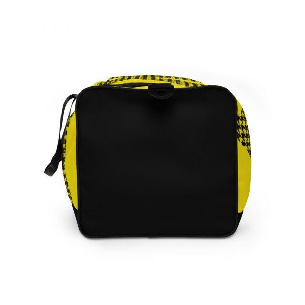 sporttasche trainingstasche houndstooth logo yellow right view