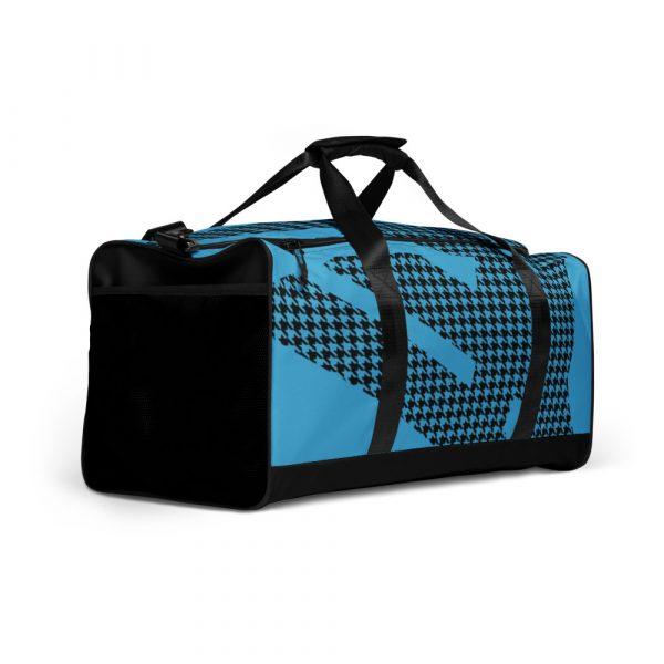 sporttasche trainingstasche houndstooth logo blue front left view