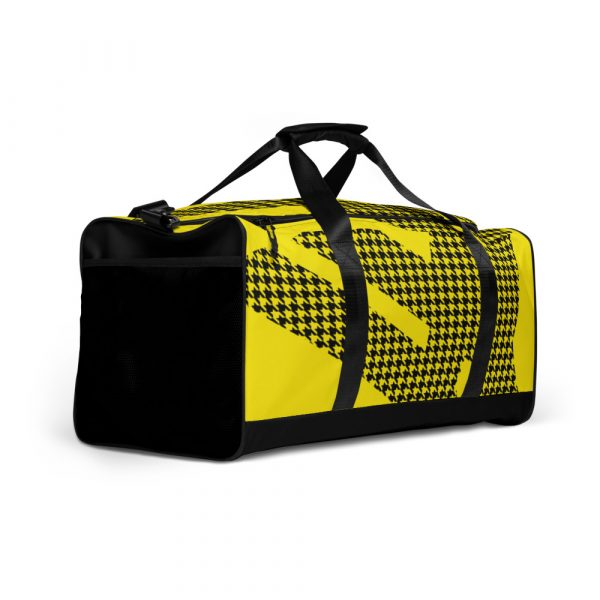sporttasche trainingstasche houndstooth logo yellow front left view
