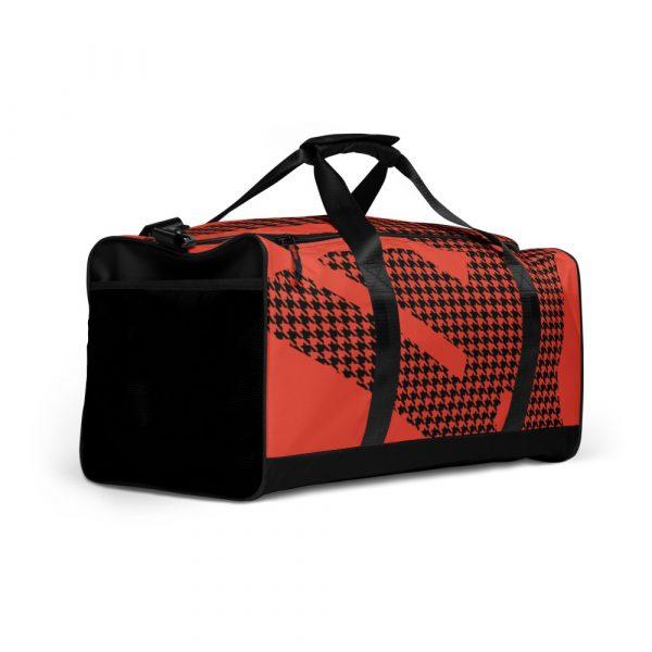 sporttasche trainingstasche houndstooth logo red left front