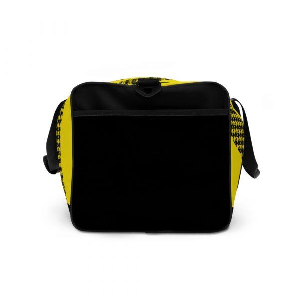 sporttasche trainingstasche houndstooth logo yellow left view