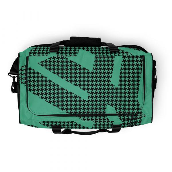sporttasche trainingstasche houndstooth logo green top view
