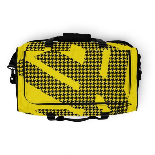 sporttasche trainingstasche houndstooth logo yellow top view