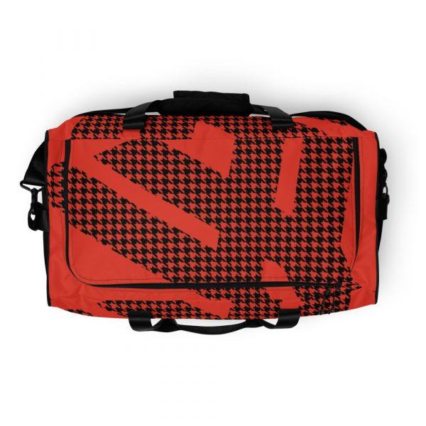sporttasche trainingstasche houndstooth logo red top