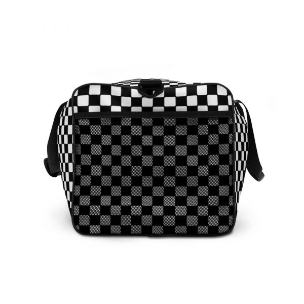 sporttasche trainingstasche karo checkers black white left view