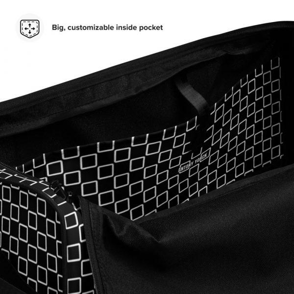 sporttasche trainingstasche karo checkers stepside black white inside