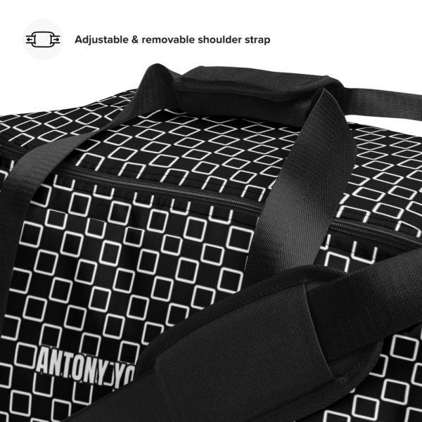 sporttasche trainingstasche karo checkers stepside black white details