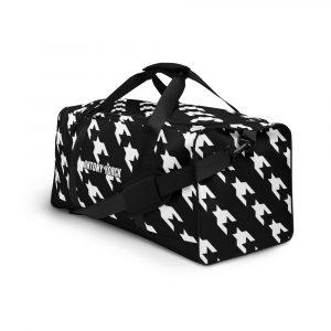 sporttasche trainingstasche houndstooth white black front right