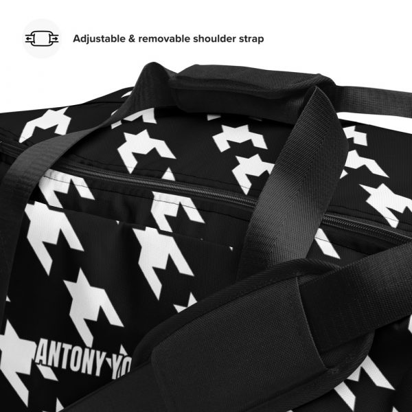 sporttasche trainingstasche houndstooth white black details