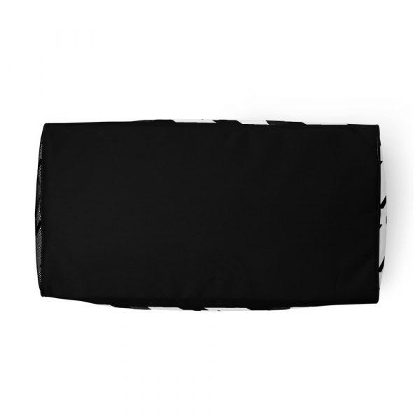 sporttasche trainingstasche houndstooth black white front bottom