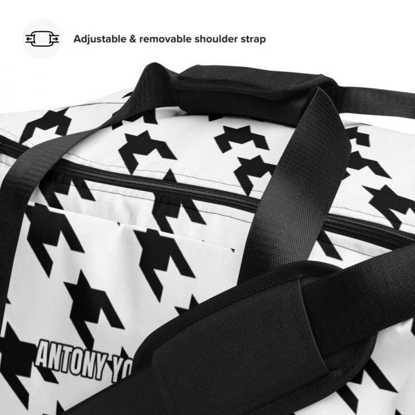 sporttasche trainingstasche houndstooth black white detail