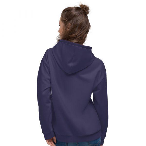 Damen Hoodie rhodonit mit Galonstreifen in weiß 2 all over print unisex hoodie white back 611295a82f8bc