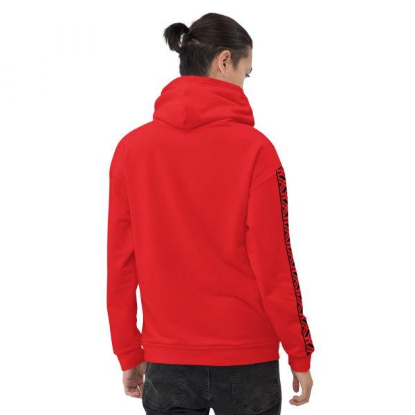 Herren Hoodie rot mit Galonstreifen in schwarz 3 all over print unisex hoodie white back 61129a5e204b9