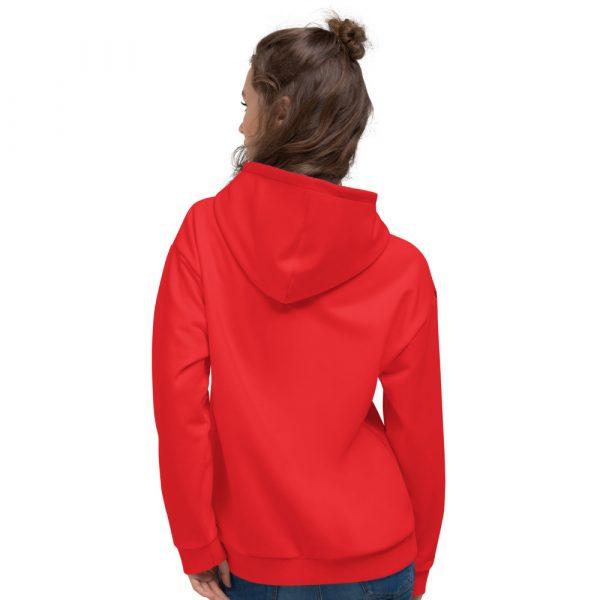 Damen Hoodie rot mit Galonstreifen in schwarz 3 all over print unisex hoodie white back 61129ae0abd2e