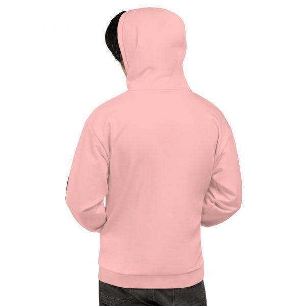 Herren Hoodie rosa mit Galonstreifen in schwarz 3 all over print unisex hoodie white back 61129f0eb92c2