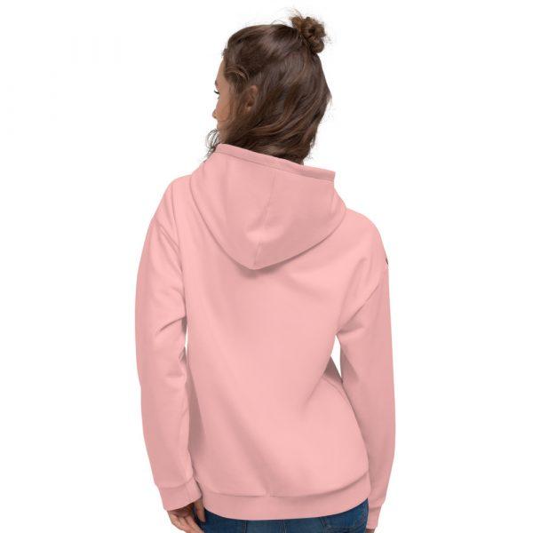 Damen Hoodie rosa mit Galonstreifen in schwarz 3 all over print unisex hoodie white back 61129f805e728